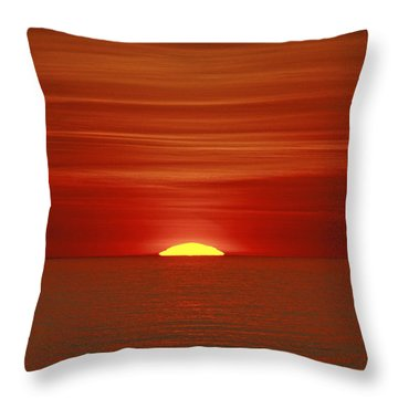 Red Sky At Night Throw Pillow by Michael Allen