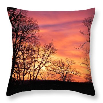 Red Sky At Night Sailor's Delight Throw Pillow