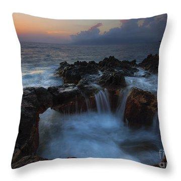 Red Sky Cauldron Throw Pillow by Mike  Dawson