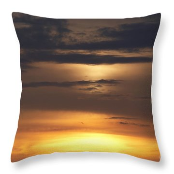 Red Sky - Gloaming Throw Pillow by Michal Boubin