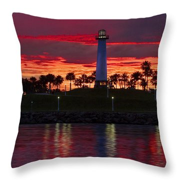 Red Skys At Night Denise Dube Photography Throw Pillow by Denise Dube