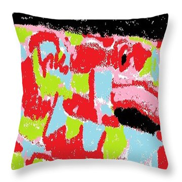 Throw Pillow featuring the digital art Red Snake Nebula by Don Koester
