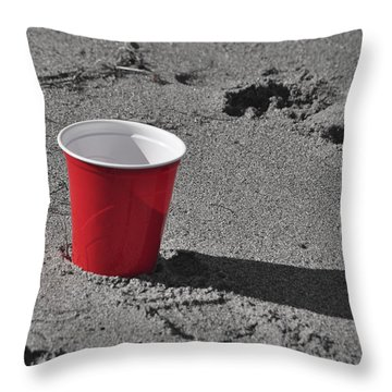 Red Solo Cup Throw Pillow by Trish Tritz