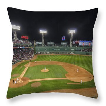 Red Sox Vs Yankees Fenway Park Throw Pillow
