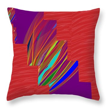 Throw Pillow featuring the photograph Red Sparkle And Blue Lightening Across by Navin Joshi