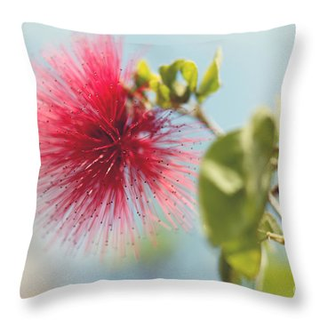 Red Sparkle Throw Pillow