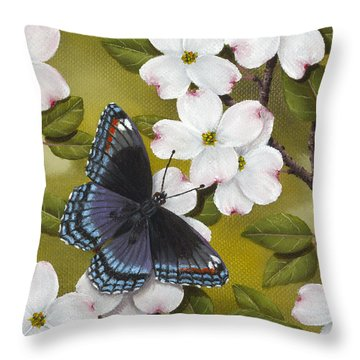 Red Spotted Purple Throw Pillow
