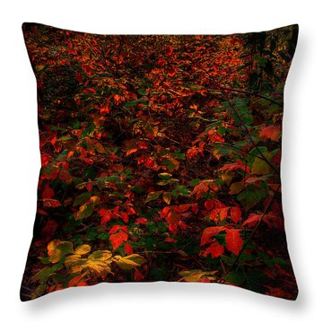Red Sumac Throw Pillow