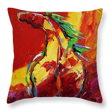 Red Sun Horse 20  2014 Throw Pillow