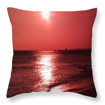 Red Sunset Throw Pillow