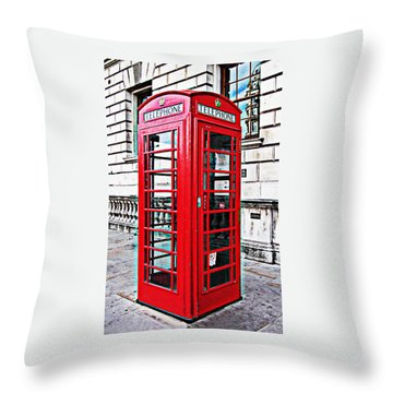 Red Telephone Box Call Box In London Throw Pillow