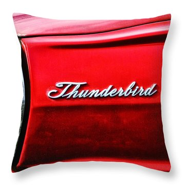 Red Thunderbird Throw Pillow by Bill Cannon