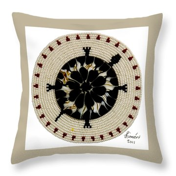 Red Tip Shell Throw Pillow