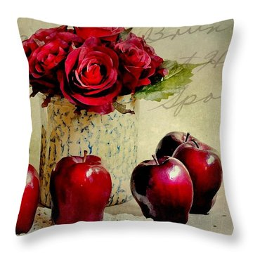 Red To Red Throw Pillow by Diana Angstadt
