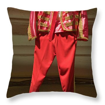 Red Toreador Bull Fighting Outfit Throw Pillow