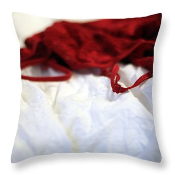 Red Throw Pillow by Trish Mistric