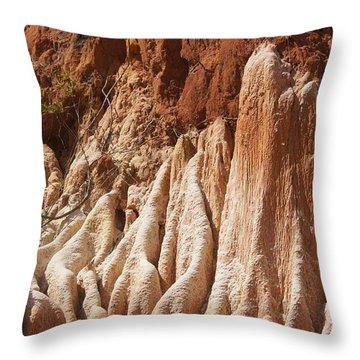 red Tsingy Madagascar Throw Pillow by Rudi Prott