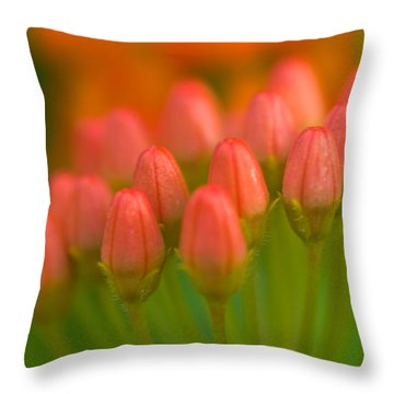 Red Tulips Throw Pillow by Sebastian Musial