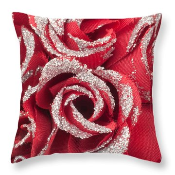 Throw Pillow featuring the photograph Red Valentines Day Roses by Gunter Nezhoda