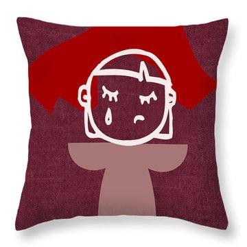 Red Veil Throw Pillow by Tina M Wenger