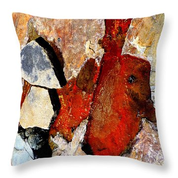 Red Veins Throw Pillow