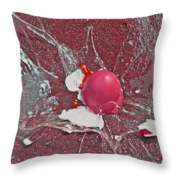 Red Velocity  Throw Pillow by Betsy Knapp