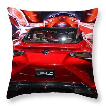 Red Velocity Throw Pillow by Randy J Heath