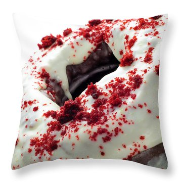 Red Velvet Bundt Cake Throw Pillow by Andee Design