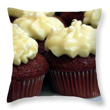 Red Velvet Throw Pillow