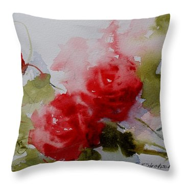 Throw Pillow featuring the painting Red Velvet by Sandra Strohschein