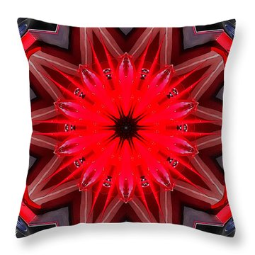 Red Throw Pillow by Victor Montgomery