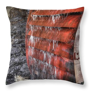 Red Water Mill Throw Pillow