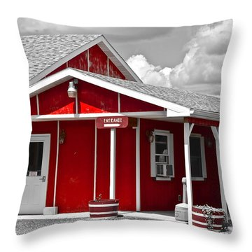 Red White And Black Throw Pillow by Frozen in Time Fine Art Photography