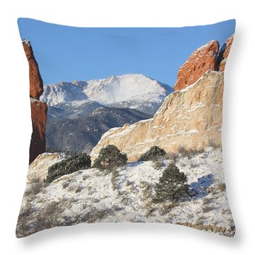 Red White And Blue Throw Pillow by Eric Glaser