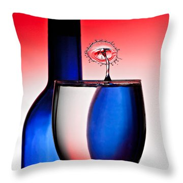 Red White And Blue Reflections And Refractions Throw Pillow by Susan Candelario