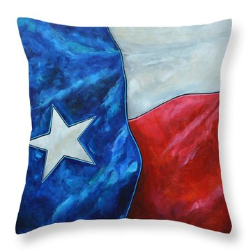 Red White And Texas Throw Pillow