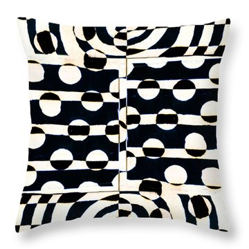 Red White Black Number 3 Throw Pillow by Carol Leigh