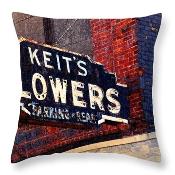 Red White Blue And Rusty Throw Pillow