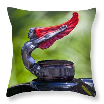 Red Wings Hood Ornament Throw Pillow
