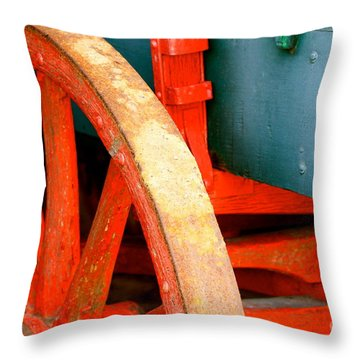Red With Age Throw Pillow by Cathy Dee Janes