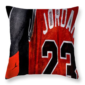 Throw Pillow featuring the digital art Red Wrist Band by Brian Reaves