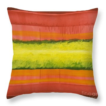Red Yellow And Green Throw Pillow