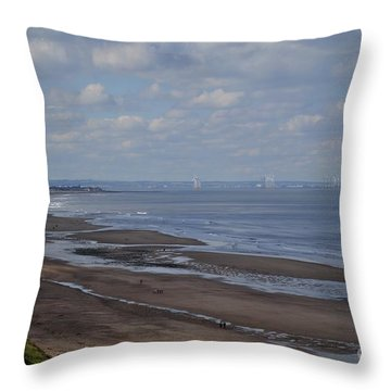 Redcar From A Distance Throw Pillow