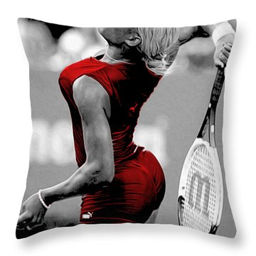 Throw Pillow featuring the photograph Red Cat Suit by Brian Reaves