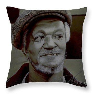 Redd Foxx Throw Pillow by Chelle Brantley