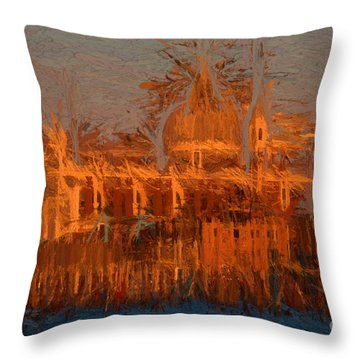 Throw Pillow featuring the photograph Redentore Venice by Jack Torcello