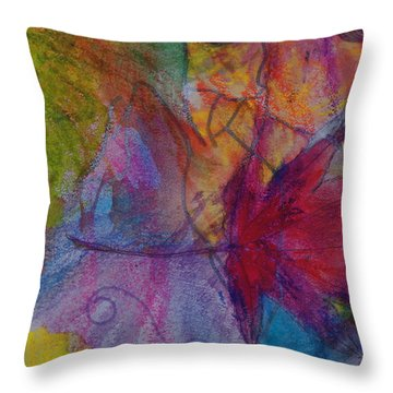 Redgum In Spring Breezes Throw Pillow by Claudia Smaletz