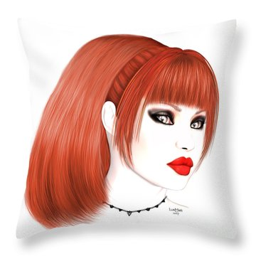 Redhead Cassia Throw Pillow