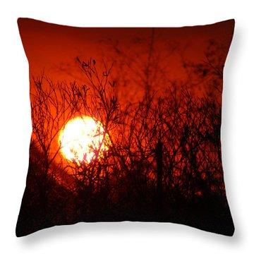 Throw Pillow featuring the photograph Redorange Sunset by Matt Harang