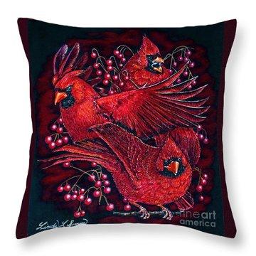 Reds Throw Pillow by Linda Simon